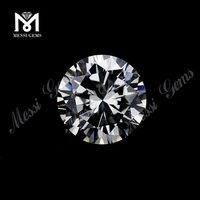 wholesale 1.0 mm round brilliant cut white cubic zirconia stone