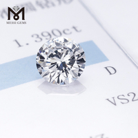 Factory price Round brilliant cut 1.39ct D VS2 3EX HPHT lab grown diamond