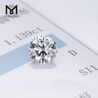 Wholesale price 1.139 carat synthetic hpht diamond DEF SI loose cvd lab grown diamond for ring