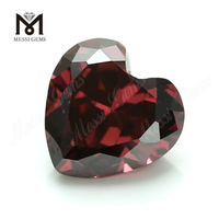 factory high quality loose gems 6mm cubic zirconia heart